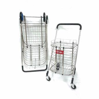 Harga GIKEN Grocery Push Cart Trolley (L)