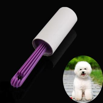 Harga Dog Cat Pet Hair Remover Pick Up Brush Sticky Lint Roller 40 Sheets Purple