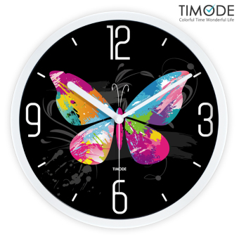 Harga Timode excellent korea colorful butterfly tide clocks art wall clock mute living room wall clock