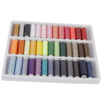 Harga 39 Spools Mixed Color Polyester Sewing Thread Multi Purpose
