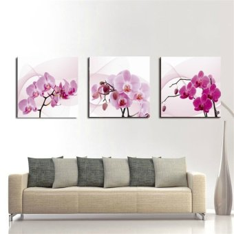 Harga Bpago Oil Painting Print on Canvas Home Wall Art Decor for Bedroom 120x40cm- orchid(Export) - Intl