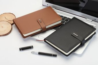 Harga [28 yuan] Bo Yu office notebook 48 k/32 K/25 k/18 K business Leather Button notebook of