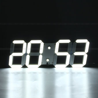 Harga LED digital stereo clock (ornamental shell blank - white light)