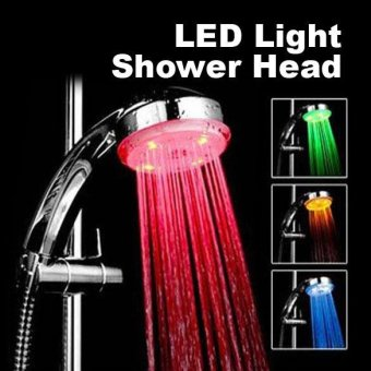 Harga 7colour Led Shower Head Faucet Water Current Energy - intl