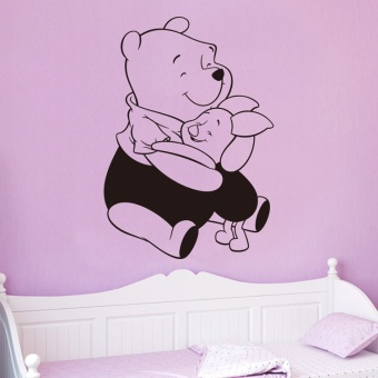 Harga Winnie The Pooh Cartoon Sticker Creative Partner Portfolio Adhesive Removable Kids Bedroom Home Decor Wall Decal ZY8230 - intl