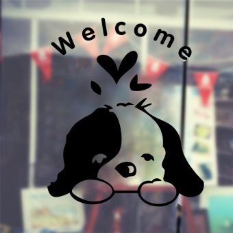 Harga Cute Dog Welcome To Home Stickers Wall Decoration 348. Diy Vinyl Adesivos De Paredes Home Decal Mual Art Waterproof Poster 7.0 - intl