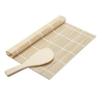 Harga Sushi Rolling Roller Bamboo Material Mat and Bamboo Scoop - intl