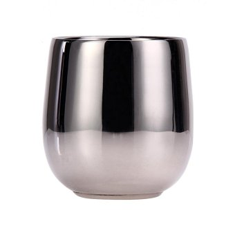 180ML Dual Layer Stainless Steel Heat Insulation Smooth Shaving Mug Bowl - intl