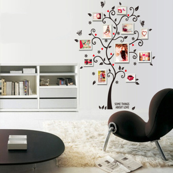 Harga DIY Removable Forever Family Chic Photo Frame Tree Mural Wall Sticker Home Decor