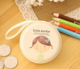 Harga Amelie White Cute Cartoon Tin Coin Pouch Earphone Holder