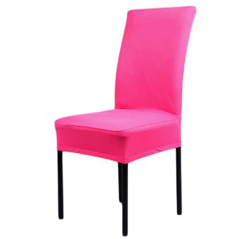 Harga Rondaful 1 Piece colors Solid Polyester Spandex dining chair covers for weddings, chair covers,dining chair chair covers