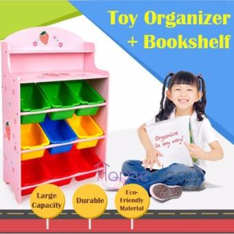 Kids Toy Rack Organizer Cabinet Storage Children Book Shelf Type C