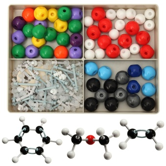 Harga Hot Sale 240Pcs Atom Molecular Models Kit Set General Organic Chemistry Scientific Children Learning Educational Toy Set - intl