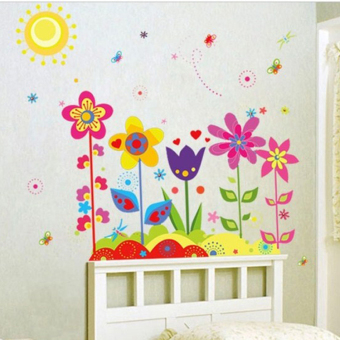 Harga Three generations of removable wall stickers sunflower skirting bedroom living room sofa background decoration ideas