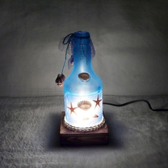 Harga Bottle lamp ocean creative romantic boutique style(blue)