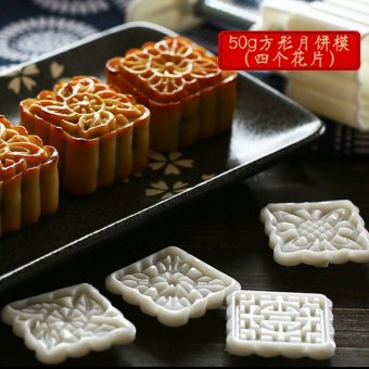 Harga Moon cake mold cantonese moon cake baking tools hand pressure type ice skin moon cake mold suit a variety of optional