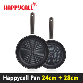 Harga [Happy Call Premium ] Porcelain Frying pan 2-SET (24cm+28cm) / Black Edition / happycall pan / Made in korea / Fry pan / wok / Kitchen / dining