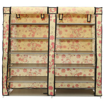 Home Shoe Rack Shelf Storage Closet Organizer Cabinet Portable with Cover - intl