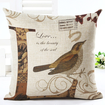 Harga Valentine Day LOVE Printed Linen Cotton Square 45x45cm Home Decor Houseware Bed Cushion Throw Pillow Cushion Cojines Almohadas