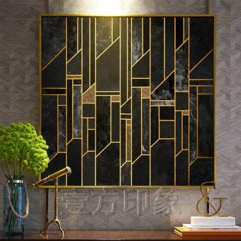 Harga Hotel company lines abstract paintings art painting decorative painting modern minimalist living room background wall aisle wall