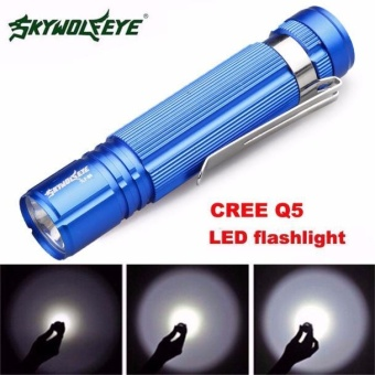7W CREE Q5 LED 1200lm Mini Flashlight Torch Light 14500/AA Lamp Waterproof Blue - intl