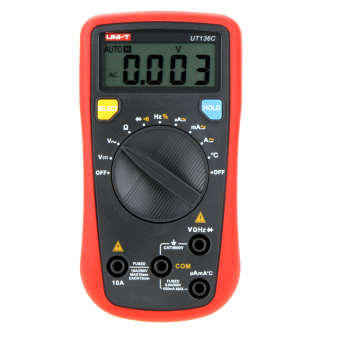 Harga UNI-T UT136C Scientific & High Accuracy Data Hold Handheld Auto-ranging Digital Multimeters W/ Temperature Test