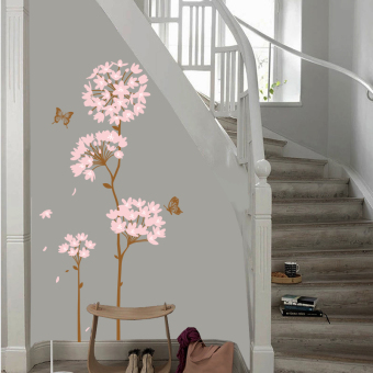 Harga Pleasant floral wall stickers bedroom living room wall stickers creative wall sticker background wall sticker room decor