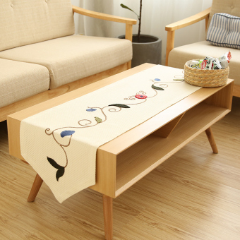 Harga Luxury fashion minimalist modern european pastoral coffee table cloth embroidered table runner tablecloth tv cabinet cover