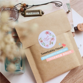 Harga 250 pieces of price fresh flowers Thank you gift seal stickers decorative stickers DIY stickers Thank you stickers