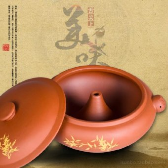 Harga Yunnan purple health ceramic stew pot boilers built pot purple pottery steamed chicken soup