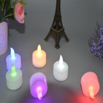 Harga 24PCS Mini Flameless Candles Long white core LED Candle tea Lights For Christmas Wedding Decoration electronic candle - intl
