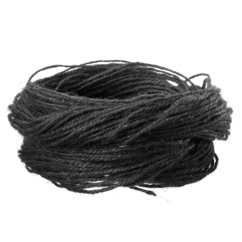 Harga 2mm Twisted Burlap Hessian Jute Rustic Rope Corse Hemp String Twine Craft 10-80m Black - Intl