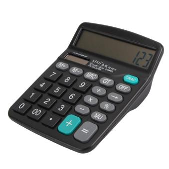 Harga AC Scientific Digital Calculator Solar Battery Powered Office School Home Supplies - intl