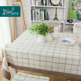 Modern nordic american minimalist plaid tablecloth rectangle table cloth small fresh pastoral coffee table cloth linen tablecloth