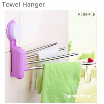 Harga Bathroom Towel Hanger Rack Suction No Hole Shelf Shelves Organizer Accessories