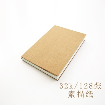 Harga Leather paper blank cover simple sketch BENSE.O blank sketch graffiti hand-painted bare notes BENSE.O stationery