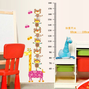 Harga animal piles high large nursery cartoon height stickers child height ruler wall stickers can be removed