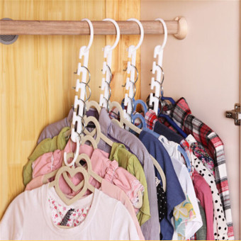 Harga Multifunctional folding drying rack windproof hanger wardrobe storage clothes rack magic magic hanger 8 pack