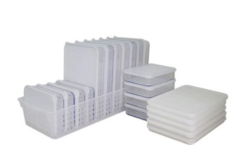 Silicook Tray + 20 Pieces of Subdivision Flat Food Container for Storage in Refrigerator(Fridge). Total Set.