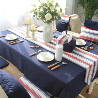 Original dark blue modern minimalist british coffee table cloth rectangle table cloth tablecloth american country nordic bugaboo