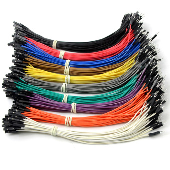 Harga 40pcs×20cm female to male Dupont Dupont Wire Color Jumper Cable For Arduino- - intl