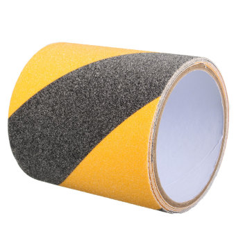Harga 10CM*1M Roll Safety Non Skid Tape Anti Slip Tape Sticker Grip Safe Grit Shower black and yellow - Intl