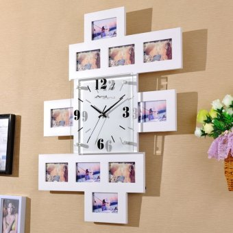 Harga Modern Cool living room bedroom mute clock watch wall clock