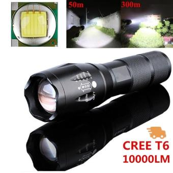 Powerful 10000LM CREE T6 LED Flashlight 5 Mode Zoomable Waterproof Torch Outdoor Sports Camping & Hiking - intl