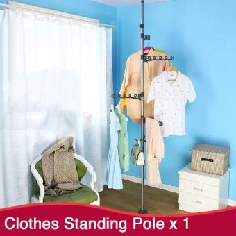 Harga Clothes Hanging Pole | Clothes Rack | Standing Pole | Clothes Hanger