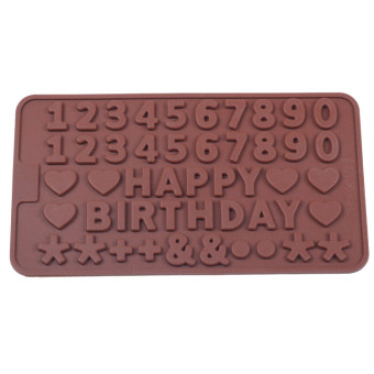 Harga Happy birthday happy birthday love digital letters silicone chocolate cookies baking mold nontoxic