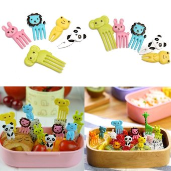 Harga 10pcs Bento Kawaii Animal Food Fruit Picks Forks Lunch Box Accessory Dᄄᆭcor - intl