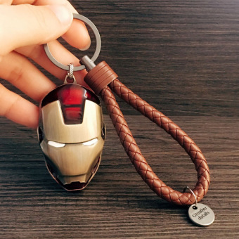 Harga Foreign trade hot avengers iron man spiderman mask captain america shield keychain pendant