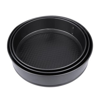 Harga 3pcs Pans Bake Cake Baking MoIld with Removable Bottom Round Decorating Tool - intl