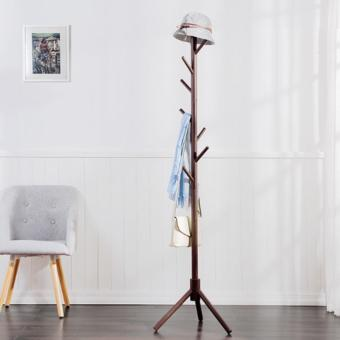 Harga Round Wooden Coat Stand (Brown)(Brown)